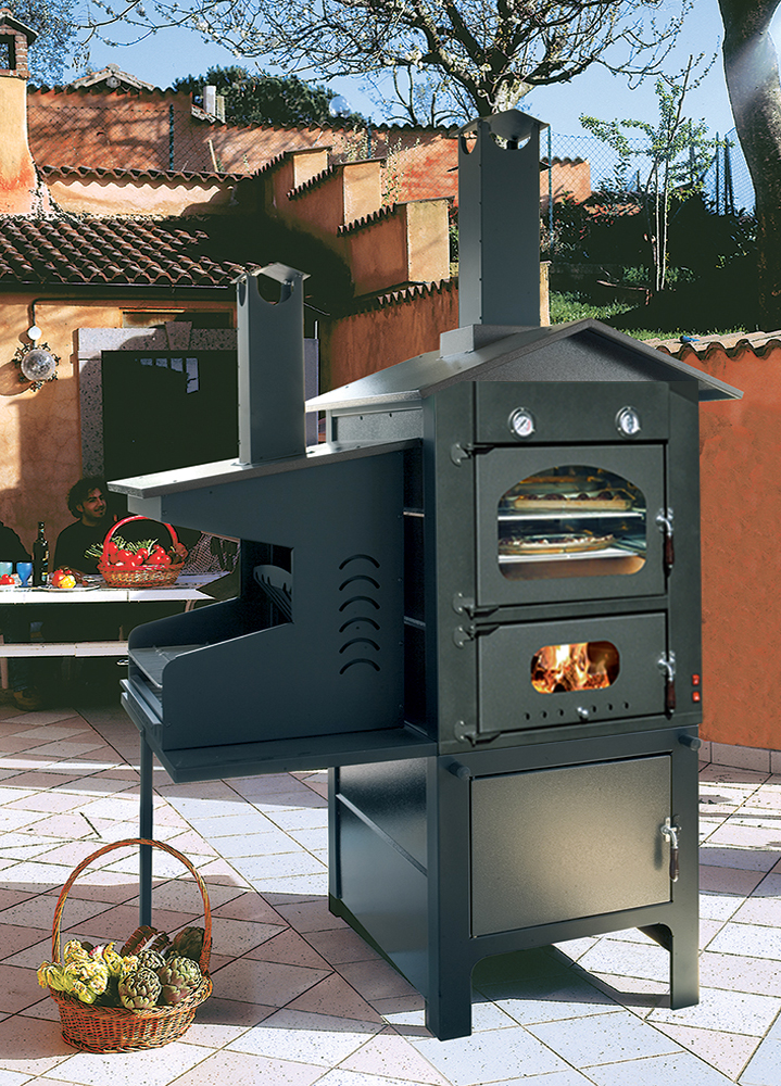 Forni a legna mod oven royal da esterno con grill edilvibro - Griglie da esterno ...