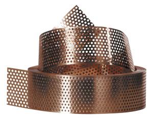 Lamiera forata in rame h 16 5 cm per tetti ventilati for Lamiera corten prezzo